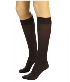 Wolford Velvet De Luxe 50 Knee Highs Nearly Black