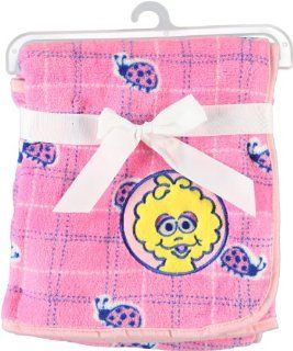 Sesame Beginnings 30x30 Fleece Blanket (Bright Pink with Big Bird) : Nursery Bed Blankets : Baby