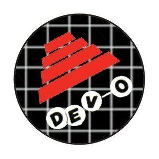 "Devo   Flower Pot Hat (Logo Below Hat)   1.25"" Button / Pin Clothing"