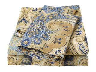 Elite Milano Paisley Collection 100 Percent Cotton Sateen 4 Piece Sheet Set California