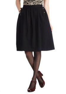 Noir at Nighttime Skirt  Mod Retro Vintage Skirts