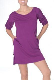 Beyond Yoga Organic Pima Panel Dress (African Violet, X Small)  Yoga Equipment  Clothing