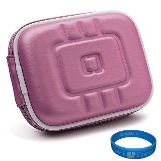 VG EVA Camera Case (Purple) for Sony DSC RX100 Point and Shoot Digital Camera + SumacLife TM Wisdom Courage Wristband  Camera & Photo
