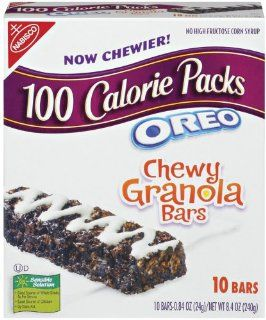 100 Calorie Packs Oreo Chewy Granola Bars, 8.4 Ounce Boxes (Pack of 10)  Breakfast Bars  Grocery & Gourmet Food