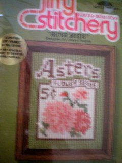 "Counted Cross Stitch KitAster SeedsKit contains 6.5"" x 7.5"" 100% cotton Aida cloth, 100% cotton yarn sufficient to complete the design, colored graph, needle, mounting board, full color print and complete instructionsFits standard 4"" x 5&quo"