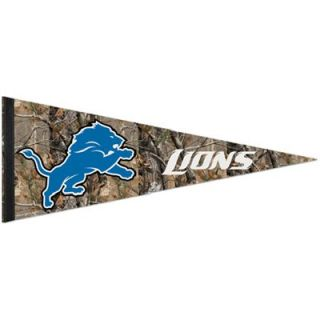 Detroit Lions 12 x 30 Real Tree Camo Premium Pennant
