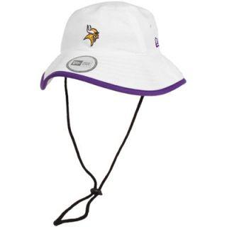 New Era Minnesota Vikings Training Bucket Hat   White
