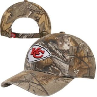 47 Brand Kansas City Chiefs Logo Clean Up Adjustable Hat   Realtree Camo