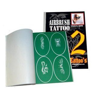 Master Airbrush� Brand Airbrush Tattoo Stencils Set Book #2 Reuseable Tattoo Template Set, Book Contains 100 Unique Stencil Designs, All Patterns Come on High Quality Vinyl Sheets with a Self Adhesive Backing.: Beauty