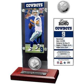 Tony Romo Dallas Cowboys Acrylic Desktop Ticket Display Case with Silver Coin