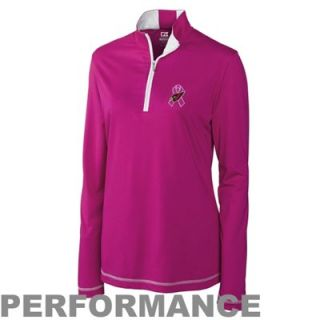 Cutter & Buck Arizona Cardinals Ladies Breast Cancer Awareness Choice Performance Half Zip Jacket   Pink