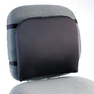 Memory Foam Backrest, 13 1/4w x 1 3/4d x 14 1/4h, Black : Kensington Cushion : Office Products