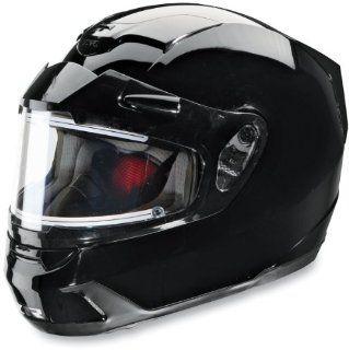 Z1R Venom Snowmobile Helmet Solid Black w/Electric Shield XS Automotive