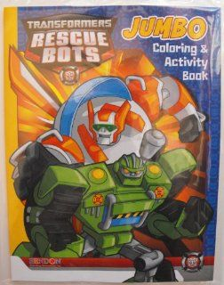 Transformers Rescue Bots 64 Page Coloring & Activity Book. Heat Sealed in a Copyrighted Labeled Sleeve. Enjoy all your favorite Autobots/Action Figures. Optimus Prime, Bumblebee, Heatwave, Chase, Blades, Boulder and more while doing the puzzles and gam
