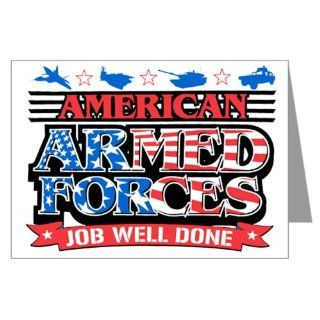 Greeting Card American Armed Forces Army Navy Air Force Military Job Well Done