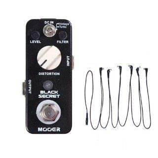 Mooer Guitar Effect Pedal Black Secret Distortion True Bypass Free 6 Ways Cable: Musical Instruments