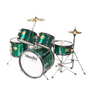 Mendini MJDS 5 GN Complete 16 Inch 5 Piece Green Junior Drum Set with Cymbals, Drumsticks and Adjustable Throne Musical Instruments