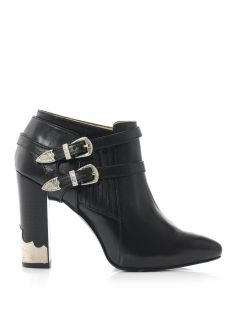 Double buckle high heel ankle boots  Toga Pulla  MATCHESFASH