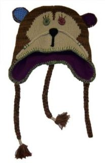 Ladies Patchwork Critter Hat   Monkey [4010]: Clothing