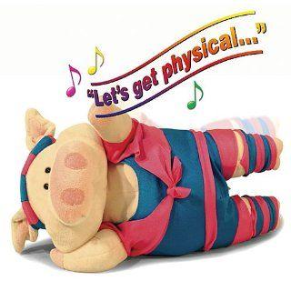 Physical Phyllis Exercise Pig Animated Plush Stuffed Animal [Toy] Toys & Games