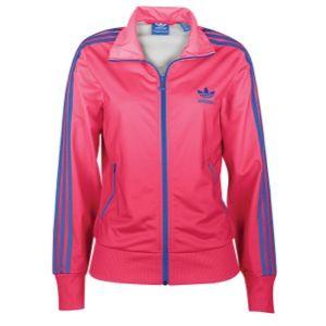 adidas Originals Firebird Track Jacket   Womens   Casual   Clothing   Blaze Pink/Bluebird