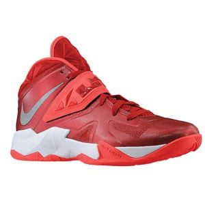 Nike Zoom Soldier VII   Mens   Basketball   Shoes   Gym Red/Bright Crimson/Metallic Silver