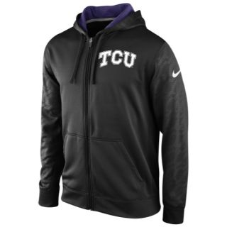 Nike College KO ThermaFit Full Zip Hoodie   Mens   Football   Clothing   TCU Horned Frogs   Black
