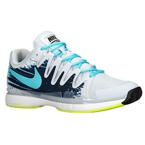 Nike Zoom Vapor 9.5 Tour   Mens   Tennis   Shoes   Lt Base Grey/Midnight Navy/White/Polarized Blue