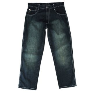 Southpole Relaxed Crosshatch Denim Jeans   Mens   Casual   Clothing   Dark Tint Blue