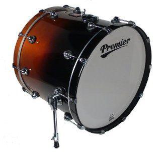 Premier Drums Genista Series 43282DWFD 1 Piece Birch 22x18 Inches Bass Drum, Drum Set (Dark Walnut Fade Lacquer): Musical Instruments