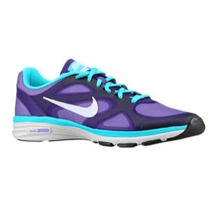 Nike Dual Fusion TR   Womens   Training   Shoes   Electro Purple/Gamma Blue/Black/White
