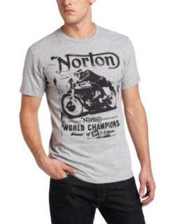Fifth Sun Men's Norton Cycles Norton T Shirt, Athletic Heather, Small Clothing