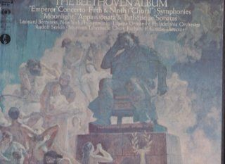The Beethoven Album Emperor Concerto / Fifth and Ninth Symphonies / Moonlight, Appasionata and Pathetique Sonatas [Vinyl] [Box Set] Music