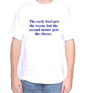 Mytshirtheaven T shirt: The Early Bird Gets The Worm: Clothing