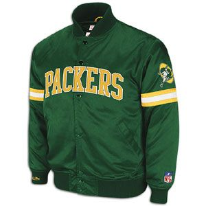 Mitchell & Ness NFL Backup Satin Jacket   Mens   Football   Clothing   Green Bay Packers   Green