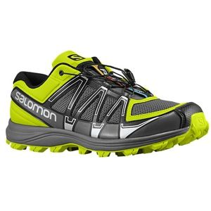 Salomon Fellraiser   Mens   Running   Shoes   Black/Autobahn/Pop Green