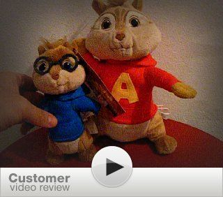 Jakks Pacific   Alvin & The Chipmunks Plush   FUNKY TOWN ALVIN (Sings & Dances   12 inch): Toys & Games