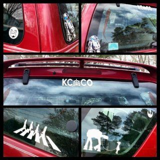 Keep Calm and Chive on KCCO White Exterior Window Decal: Automotive