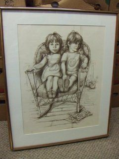 "Original Mary Vickers Lithograph ""Rocking Chair"". Numbered print 31/200. Has gallery COA."