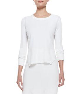 Womens Ellen Side Slit Knit Sweater   J Brand Ready to Wear   White (LARGE)