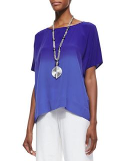 Womens Short Sleeve Ombre Top, Blue Violet   Eileen Fisher   Blue violet (S