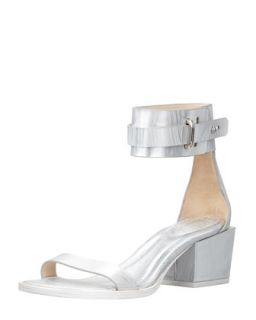Coco Metallic Mid Heel Ankle Sandal   3.1 Phillip Lim   White (39.0B/9.0B)