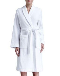 Womens Plush Basic Tie Waist Robe   Hanro   Tender rose (MEDIUM)