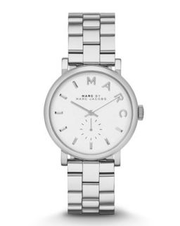 Baker Stainless Analog Watch with Bracelet   MARC by Marc Jacobs   Silver