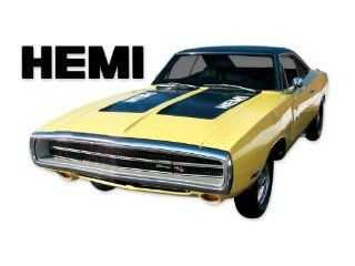 1970 Dodge Charger HEMI Hood Numbers Decals Kit   RED Automotive