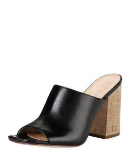 Luci High Heel Cork Slide, Black   Cole Haan   Black (35.0B/5.0B)