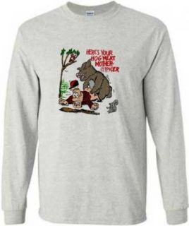 Here's Your Hog Meat Mother *?@*er Long Sleeve T Shirt Funny Hunting Clothing