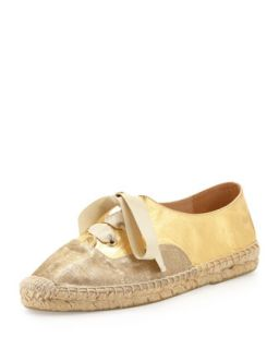 lina metallic espadrille sneaker   kate spade new york   Gold (38.0B/8.0B)