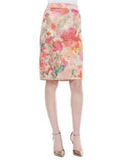 Womens marit floral print pencil skirt, multicolor   kate spade new york   Mlt