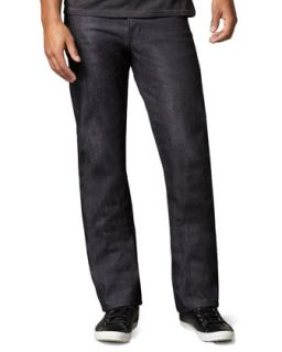 Mens SlimGuy Broken Twill Indigo Jeans   Naked and Famous Denim   Blue (30/46)